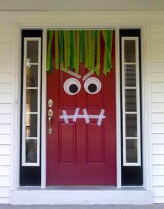 Monster door decoration
