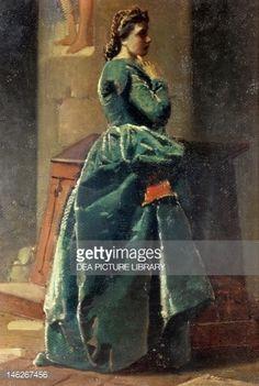 La mujer de verde, de Federico Faruffini (1831-1869)