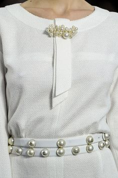 It's all about the finer detail: #Chanel Spring 2013 white dress. #fashion #pinterest