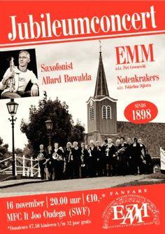 Jubileumconcert E.M.M. Oudega (W) met Allard Buwalda, Oudega (SWF) - Beleef Friesland
