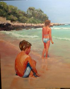 Painting, Art, The Beach, Art Background, Painting Art, Kunst, Paintings, Performing Arts, Painted Canvas