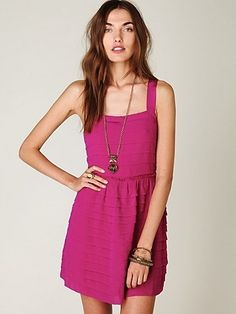 Free People Raw Cut Ruffle Tier Dress at Free People Clothing Boutique - StyleSays