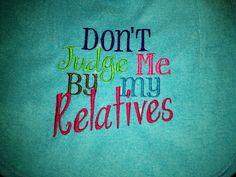 Embroidered Baby Bib Don't Judge Me By My by CuddlyStitchesbycjk, $4.00