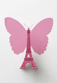Butterfly and Eiffel Tower by Camille Soulayrol