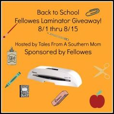 Fellowes Back to School Laminator Giveaway