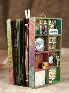 Wood Collage Box Mini Albums
