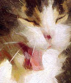 "scott burdick paintings | Mina Yawning"" Oil 6 by 8"
