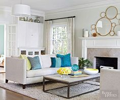 Arrange for Conversation For face-to-face chats, place seating no more than 8 feet apart. In a large living room, use furniture to create comfortable islands. Face two sofas in the center of a room, and place a group chairs and side tables at one end to create a separate conversation area./