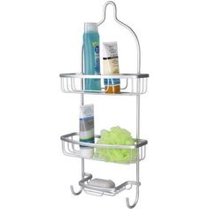 Home Basics Aluminum Shower Caddy, Silver