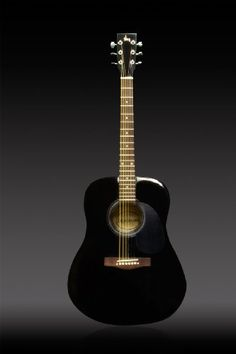 Full 41″ Acoustic Guitar with Guitar Case & More Accessories Combo Kit Guitar Black