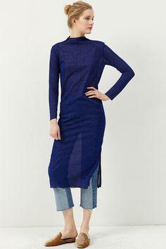 Jana Long Shiny Dress Discover the latest fashion trends online at storets.com  #gillterdress #longdress #bluedress
