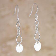 Drip Drop Earrings handmade by Garden of Silver. www.gardenofsilver.com