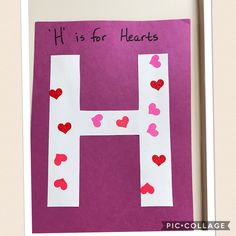 Letter H.  H is for Hearts.