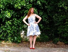 Toile Dress Retro Summer Dress with Off by karmologyclinic on Etsy