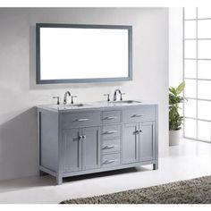 virtu caroline doubles vanits de salle de bains vanit salle de bain salle de bains principale salle de bains remodelage salle de bains bruyres - Home Depot Salle De Bain Vanite