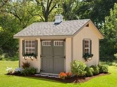 Cute Garden Shed Plans | Heritage Amish Shed Kit 10 x 16 #DIYsheds