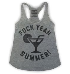 Fuck Yeah Summer Womens Tank Greygi