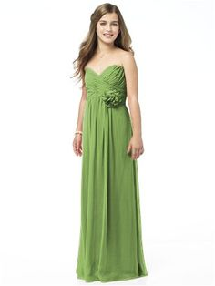 Find the perfect bridesmaid dresses in an amazing range of colors and sizes. Matching flower girl and junior bridesmaid dresses, too. The Dessy Group offers tons of styles and choices to make every bridesmaid feel beautiful! Sexy Maxi Dress, Chiffon Maxi Dress, Strapless Dress Formal, Red Chiffon, Strapless Maxi, Chiffon Flowers, Ruched Dress, Dress Red, Bandeau Dress