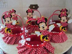 23 Clever DIY Christmas Decoration Ideas By Crafty Panda Minnie Mouse Theme Party, Mickey Party, Baby Mouse, Mini Mouse, Mickey Mouse Birthday, Ideas, Google, Minne, Sugar Jar