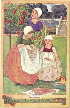 Anne Anderson . Rose Leaves - The Rosie-Posie Book, 1911