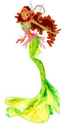 Aisha as a mermaid