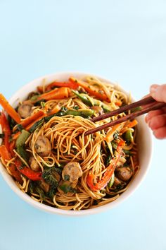 Easy Vegetable Lo Mein – Just like your favorite takeout noodles, but healthier!