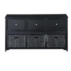 Home Decorators Collection Oxford 3-Drawer File Cabinet in Black