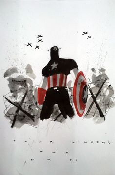 Captain America, commission  (Artist: David Aja)