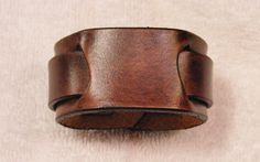 Custom handcrafted leather wristband  Dark by LeatherWristbands, $15.00