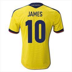 Mens 2011/13 Colombia James Rodríguez Home Soccer Jersey Football Shirt Trikot 820103337403 on eBid United States