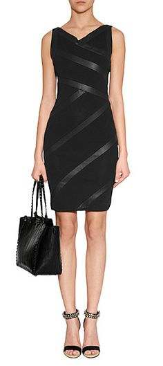 Leather and stretch mesh paneling crisscross to make a jaw-dropping bandage silhouette in this undeniably chic Jitrois dress #Stylebop