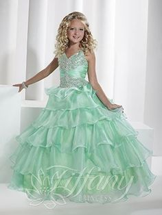 Blush Kids Inc. - Tiffany Princess 13344 Glitz Pageant Dress For Girl,
