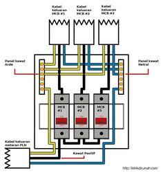 Gambar bagan instalasi pemasangan saklar ganda dengan piting lampu skema jalur kabel mcb instalasi listrik rumah ccuart Image collections