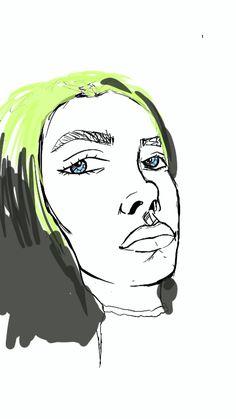 Draw Billie eliish