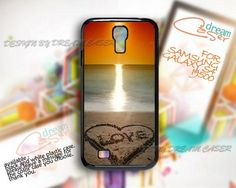 Beach Love - Print On Hard Case Samsung Galaxy S4 i9500