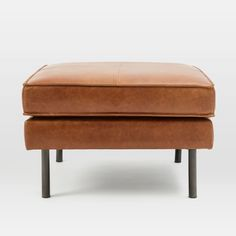 We designed our Axel Ottoman with clean lines in mind. It features your choice of leather on a simple industrial form, with flanged edges and modern metal legs. Though intended for your living room, its kiln-dried, Contract Grade frame is durable …