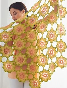 Buy Free Pattern Caron Garden Flowers Shawl from the Crochet Patterns range at Hobbycraft. Crochet Motif Patterns, Shawl Patterns, Knitting Patterns Free, Free Knitting, Free Pattern, Thread Crochet, Crochet Scarves, Crochet Shawl, Free Crochet