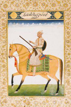 Potriat of emperor akbar.. 19 th century..