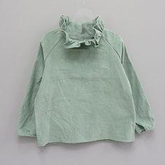 Mint green top | Ruffle collar neck | Eclair Annie Blouse (2C)