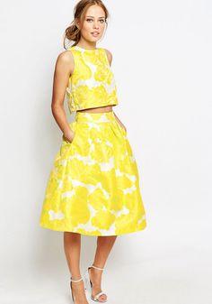 yellow bridesmaid separates