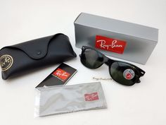 9463b662e199 Ebay Affiliate link- $104 RAY-BAN RB2132 901/58 55mm NEW WAYFARER SUNGLASSES  BLACK POLARIZED {23}
