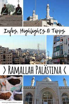 Ramallah Palästina - Infos, Highlights, Tipps & Sehenswürdigkeiten. Ramallah, ist die offizielle Hauptstadt von Palästina. Wir zeigen euch wie ihr hin kommt und welche Sehenswürdigkeiten es zu entdecken gibt. www.gindeslebens.com #Ramallah #Palästina #SehenswürdigkeitenRamallah #NaherOsten Travel Around The World, Around The Worlds, Tromso, Middle East, Backpacking, Taj Mahal, Places To Go, Asia, Gertrude Bell