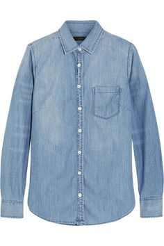 J.CREW Always Cotton-Chambray Shirt. #j.crew #cloth #tops