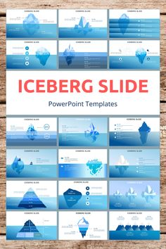 Iceberg PowerPoint Slide Templates - creative design business presentation templates in PowerPoint. Ready template, easy to edit. #Iceberg #PowerPoint #Design #Creative #Presentation #Slide #Infographic #Template Business Presentation Templates, Presentation Slides, Presentation Design, Powerpoint Slide Templates, Keynote Template, Cool Slides, Software Apps, Infographics, Tips
