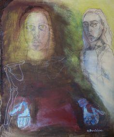 oil on canvas painted Dana Wodak.one of my self spiritual portraits.
