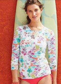 Sun protection never looked so good | Lands' End Swim Tee