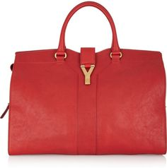 YVES SAINT LAURENT Cabas Chyc Large Leather Tote - Lyst