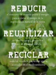 Reutilizar, reducir y reciclar!