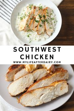 Juicy, oven-baked, southwest chicken is the perfect weeknight dinner recipe. This moist chicken breast recipe cooks up in 30 minutes for an easy and flavorful meal everyone will enjoy! Serve in a southwest chicken salad, with rice, or in a taco! #healthy #southwest #chicken Chicken Recipes Dairy Free, Fried Chicken Recipes, Keto Recipes, Dinner Recipes, Cooking Recipes, Moist Chicken, Oven Baked Chicken, Southwest Chicken, Breast Recipe