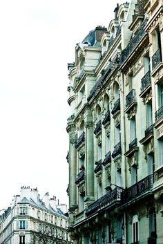 pale green buildings